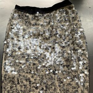 J Crew Collection wool sequin skirt size S